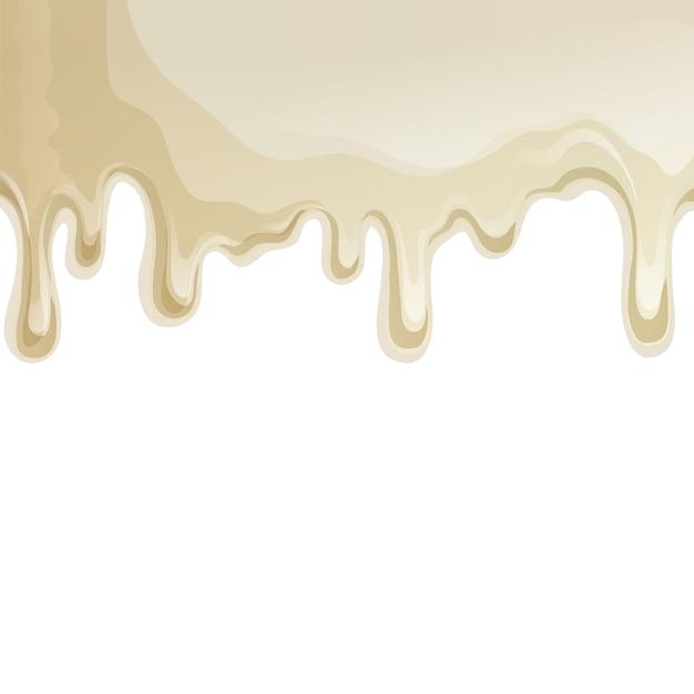 Fundo de gotejamentos de chocolate branco Vetor grátis