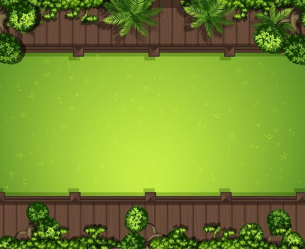Fundo de grama verde aérea Vetor grátis