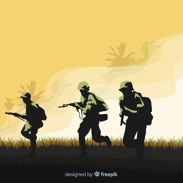 Fundo de guerra Vetor grátis