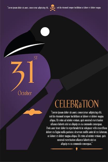 Fundo de halloween poster Vetor Premium