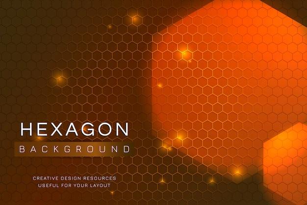 Fundo de hexágono estampado Vetor grátis