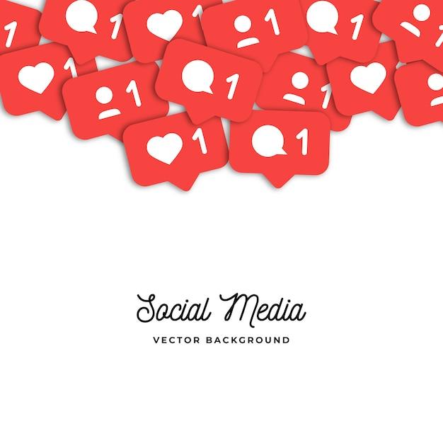 Fundo de ícones de contadores de redes sociais Vetor grátis