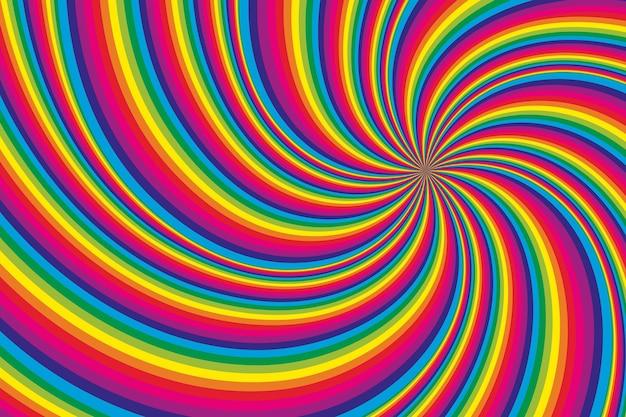 Fundo de ilusão de ótica psicodélico Vetor grátis