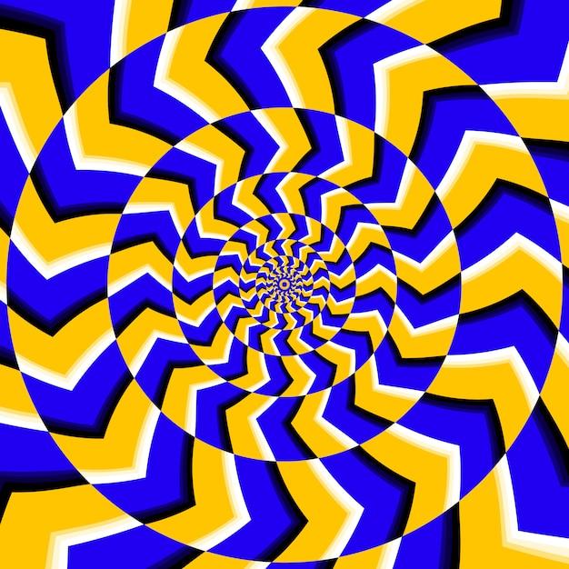 Fundo de ilusão de rotação óptica psicodélico Vetor Premium
