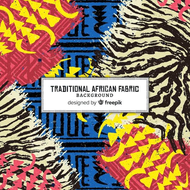 Fundo de impressão tradicional tecido africano Vetor grátis