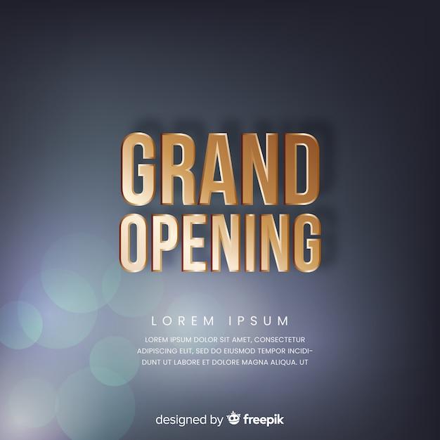 Fundo de inauguração em estilo realista Vetor grátis