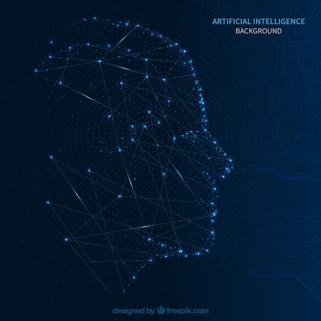 Fundo de inteligência artificial abstrata Vetor grátis