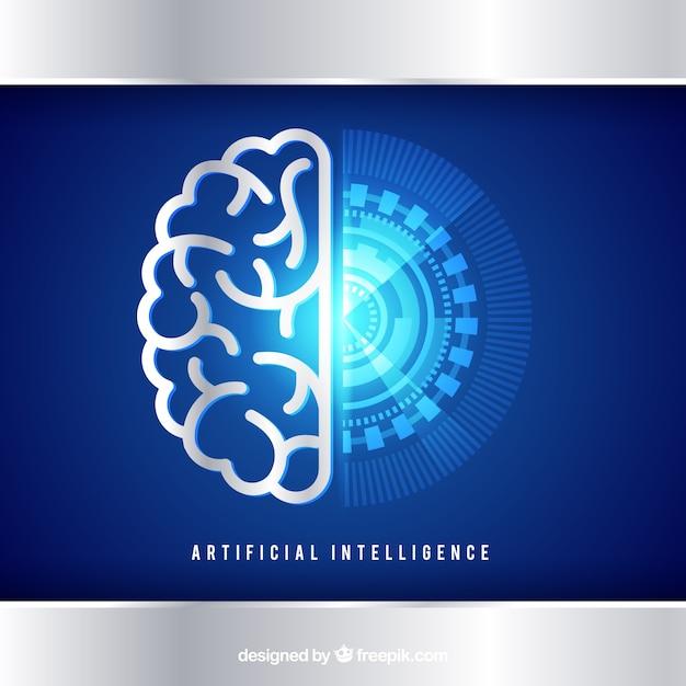 Fundo de inteligência artificial em estilo abstrato Vetor grátis