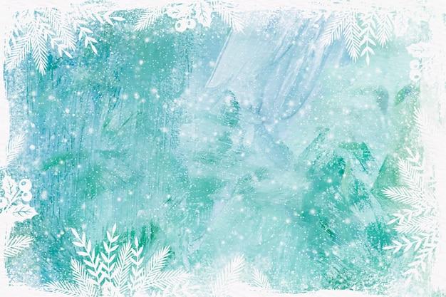 Fundo de inverno em aquarela de vidro congelado Vetor grátis