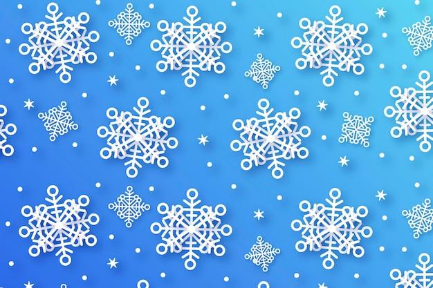 Fundo de inverno em estilo jornal Vetor grátis