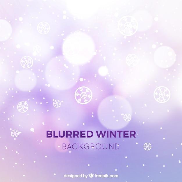 Fundo de inverno lilás borrado Vetor grátis
