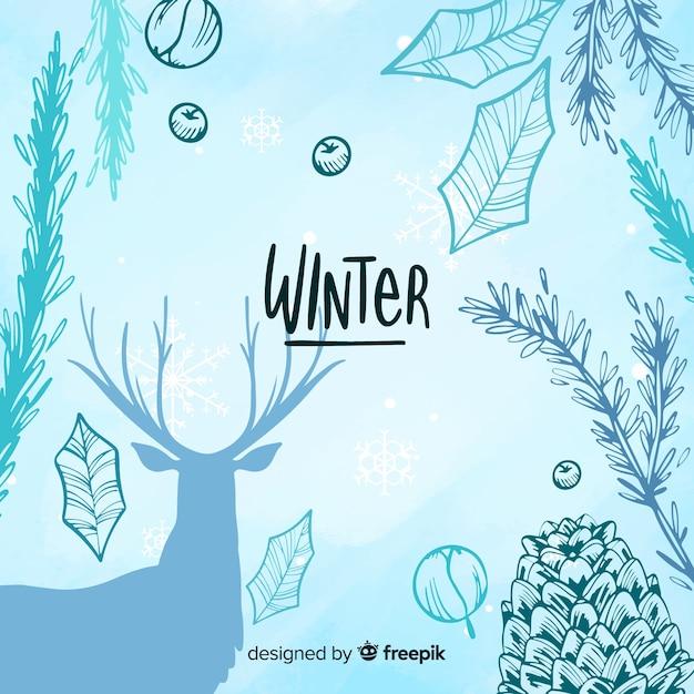 Fundo de inverno Vetor grátis