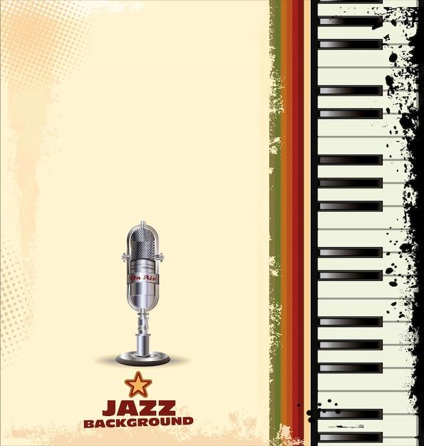 Fundo de jazz Vetor Premium
