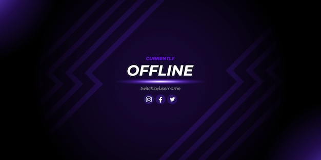 Fundo de jogo offline abstrato roxo twitch Vetor Premium