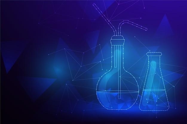Fundo de laboratório de ciência futurista Vetor grátis