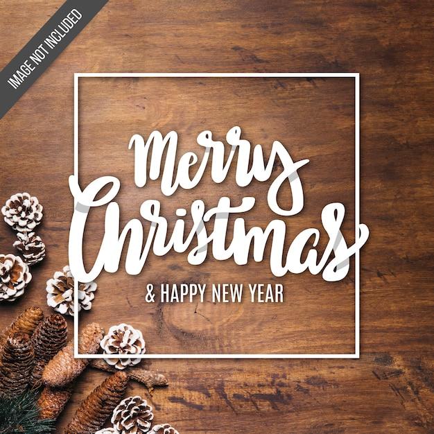 Fundo de letras de feliz natal Vetor grátis