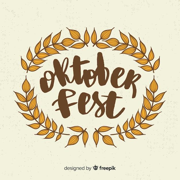 Fundo de letras oktoberfest com elementos Vetor grátis