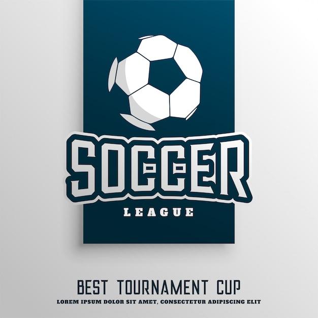 Fundo de liga de torneio de futebol de futebol Vetor grátis