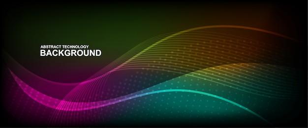 Fundo de linha de onda com forma suave Vetor Premium