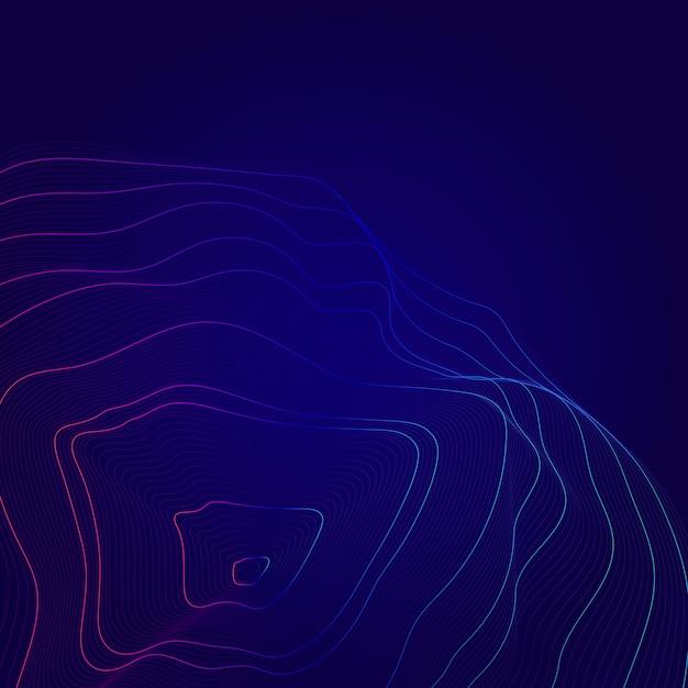Fundo de linhas de contorno abstrato azul e rosa do mapa Vetor grátis
