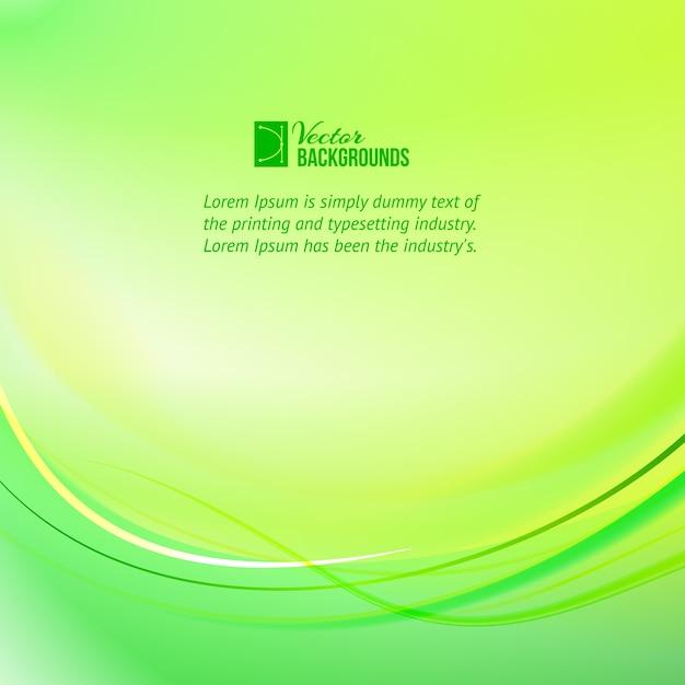 Fundo de linhas de luz verde com modelo de texto de amostra Vetor grátis