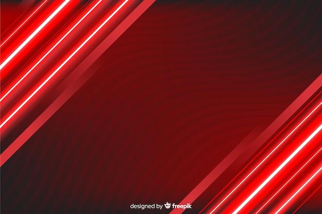 Fundo de linhas de luz vermelha à direita e à esquerda Vetor grátis