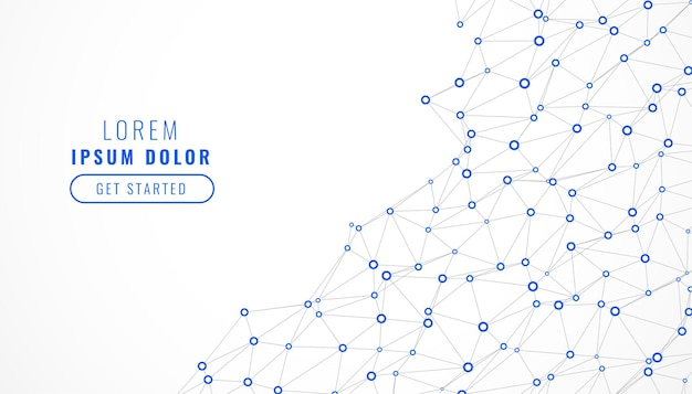 Fundo de linhas de malha de rede digital de baixo poli Vetor grátis