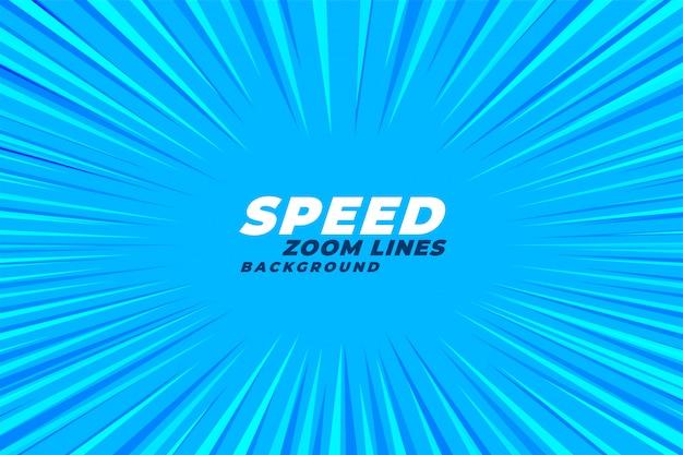 Fundo de linhas de velocidade zoom em quadrinhos abstrata Vetor grátis