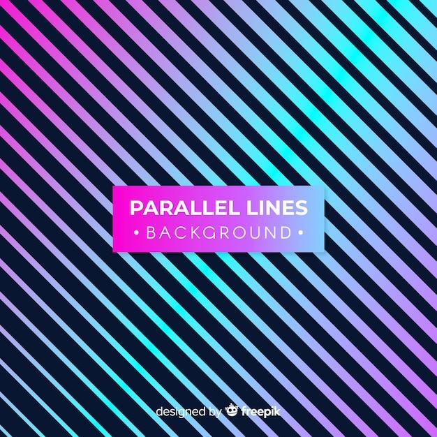 Fundo de linhas paralelas Vetor grátis