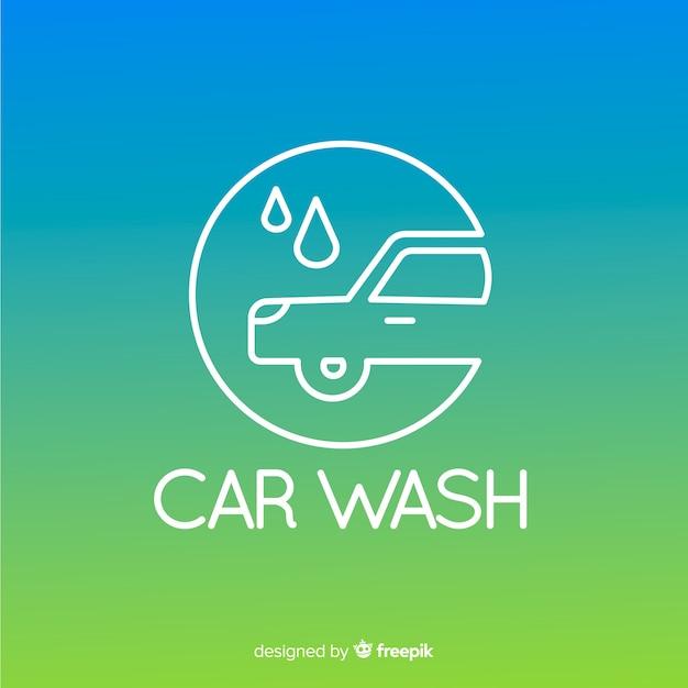 Fundo de logotipo de lavagem de carro gradiente Vetor grátis