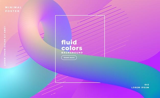 Fundo de loop de cor fluido moderno Vetor grátis