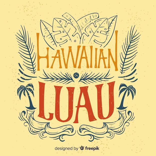 Fundo de luau havaiano vintage Vetor grátis