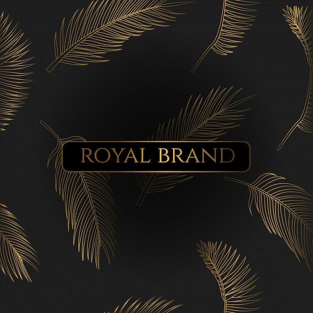 Fundo de luxo com cor de ouro Vetor Premium