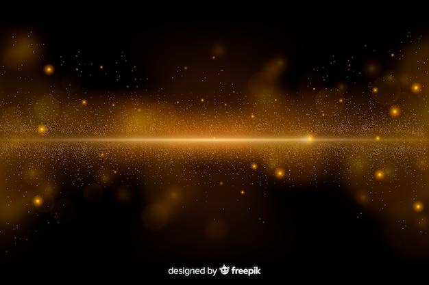 Fundo de luxo com partículas de ouro Vetor grátis