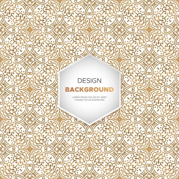 Fundo de luxo ornamental mandala design na cor do ouro Vetor grátis