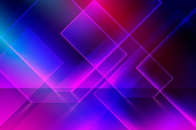 Fundo de luzes de néon de formas geométricas Vetor grátis