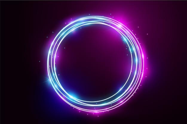 Fundo de luzes de néon Vetor Premium