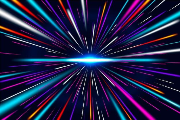 Fundo de luzes de velocidade Vetor Premium