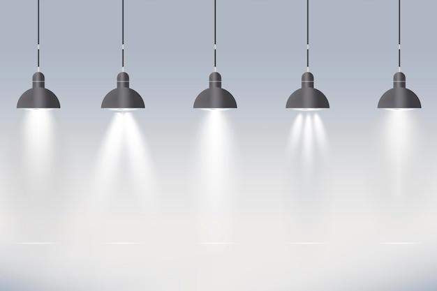 Fundo de luzes do ponto Vetor grátis