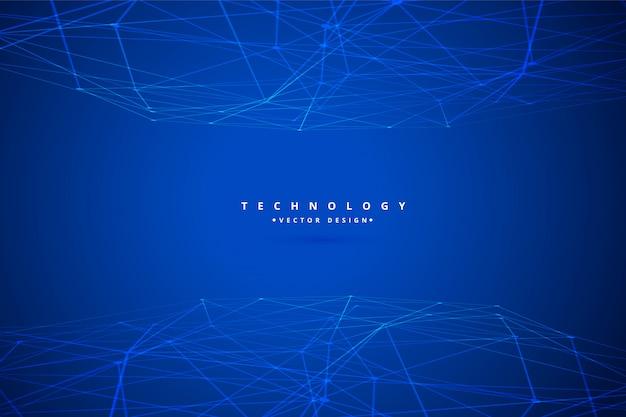 Fundo de malha de arame de tecnologia digital Vetor grátis