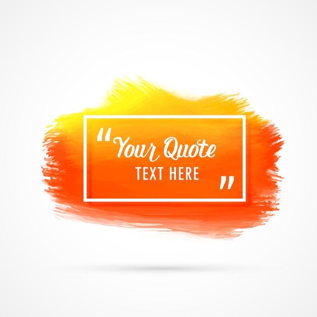 Fundo de mancha de aguarela laranja com espaço de texto Vetor grátis