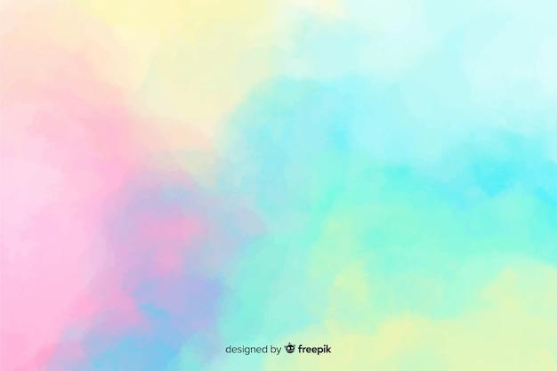 Fundo de mancha em aquarela de cor pastel Vetor grátis