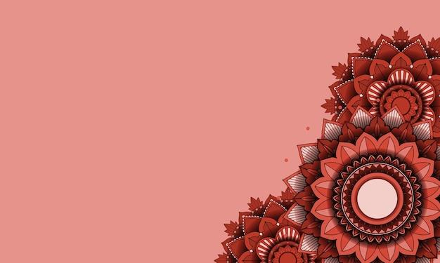 Fundo de mandala de cor linda Vetor grátis