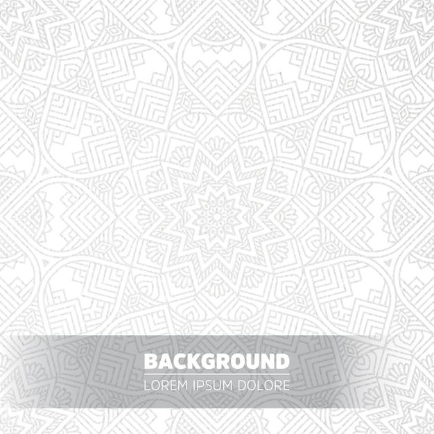 Fundo de mandala de luxo luz Vetor grátis