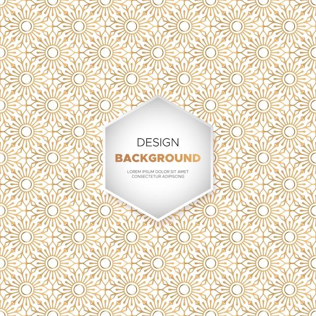 Fundo de mandala ornamentais de luxo na cor ouro Vetor grátis