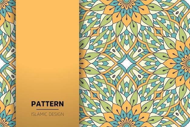 Fundo de mandala ornamental de luxo na cor ouro Vetor grátis