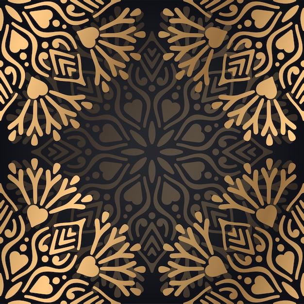 Fundo de mandala ornamental de luxo Vetor grátis