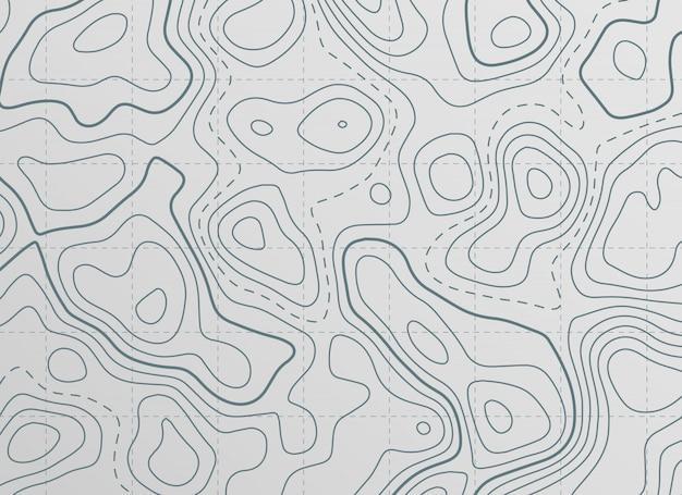 Fundo de mapa de linha de contorno topográfico Vetor grátis