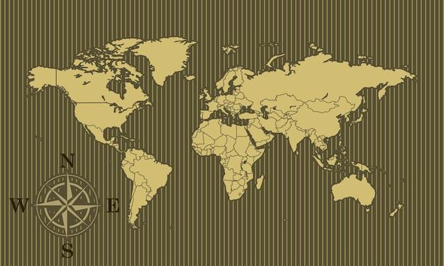 Fundo de mapa do mundo Vetor Premium