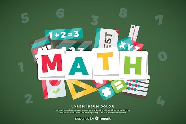 Fundo de matemática Vetor grátis